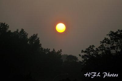 Foggy Sunrise Over Connecticut River - Holyoke MA