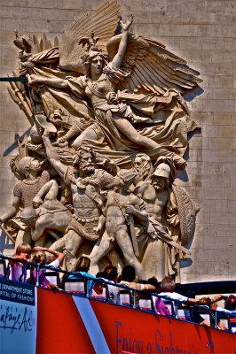 L'Arc de Triomphe  - detail