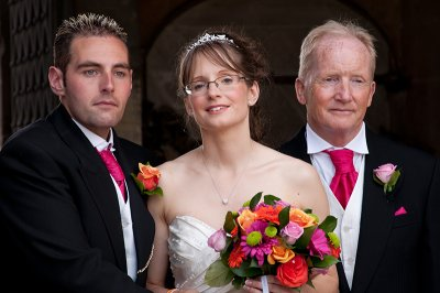 The Bride and Groom with the Brides Dad