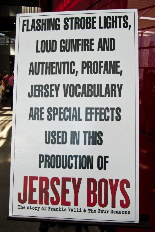 Theater-goers beware...