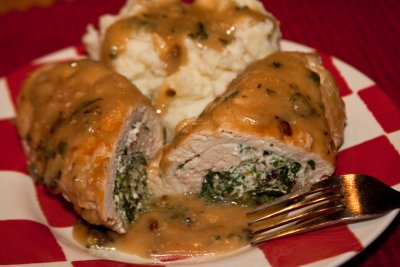 Spinach and Mushroom Stuffed Chicken Breast