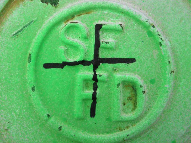 Green SF fire hydrant