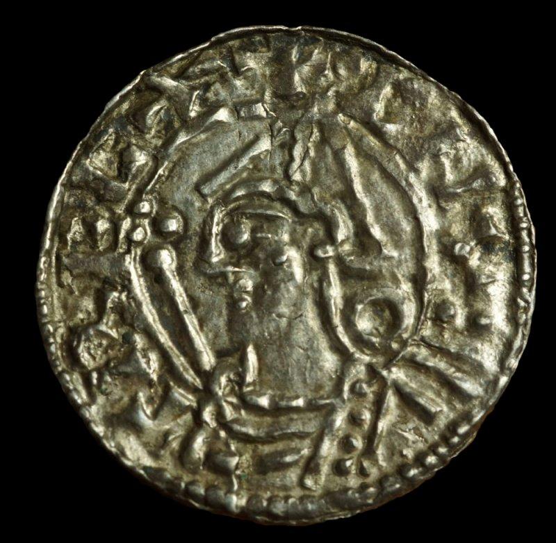 Cnut (1016-1035), Silver Penny, London - Leofmær, +CNVT RECX, +L•EOMM•ER ON LVND.