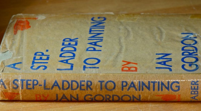 Doris Smiths battered old copy of Jans Step-ladder to Painting, now with the signatures of her great grandchildren inside.