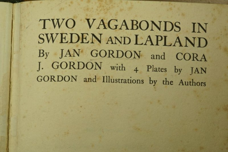The Sweden and Lapland account was published in 1926.