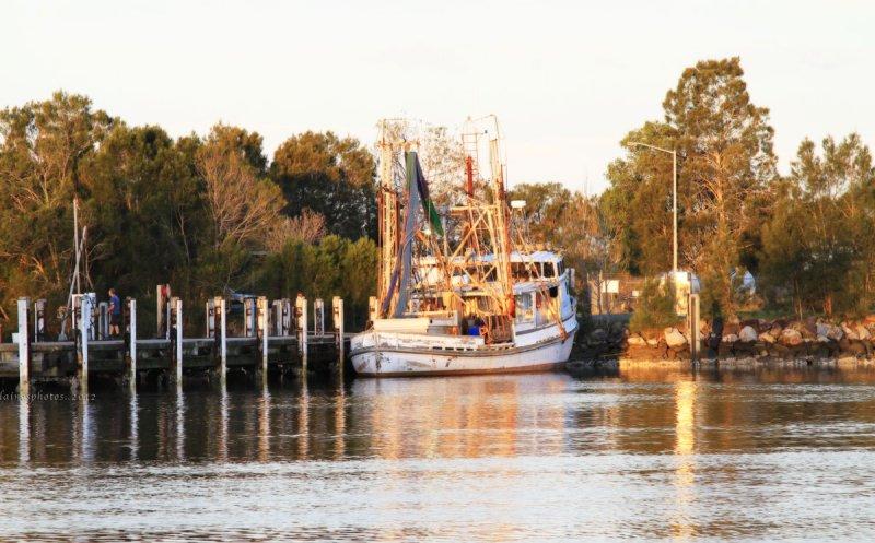 Boat at Sunset ~ Yamba, NSW