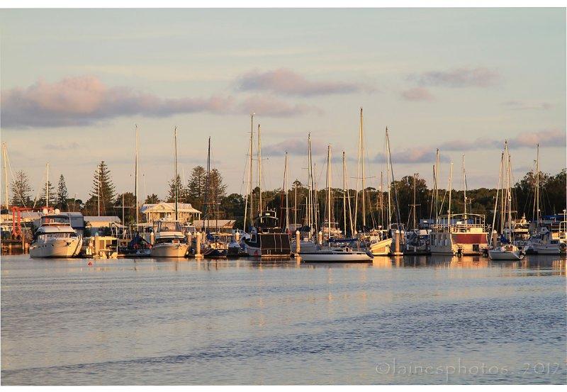 Boats at Sunset Yamba