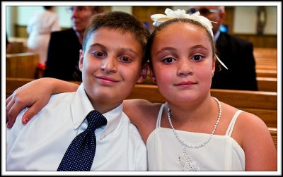 Brother and Sister Guests at the Chruch Wedding
