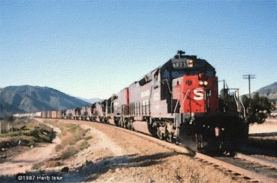 Southern Pacific Drifts Down the Cutoff
