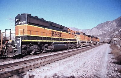 BNSF Through Blue Cut