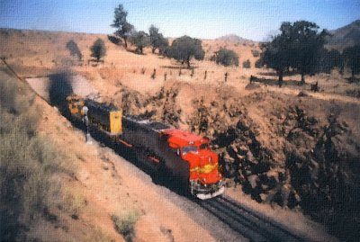 Santa Fe Super Fleet @ Walong/Tehachapi Loop