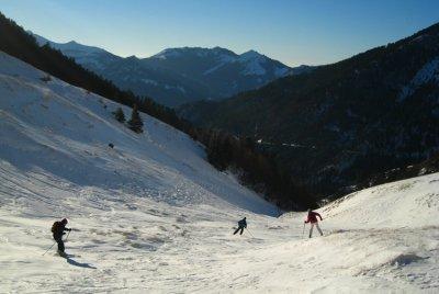 1er janvier 2008 : descente au sud du col