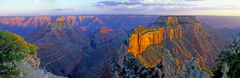 Wotons Throne Panoramic, Cape Royal, North Rim, Grand Canyon National Park, AZ