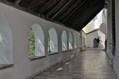 Walkway behind St Wofgang Church