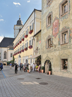Streetview by the Church in St Wolfgang