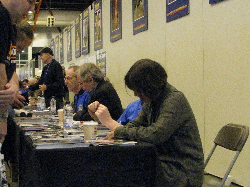 10.07.11 028 Sophie Aldred; Sylvester McCoy & Walter Koenig in rear.jpg