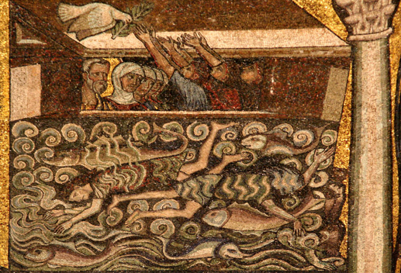 Mosaics on ceiling in baptistry        7931