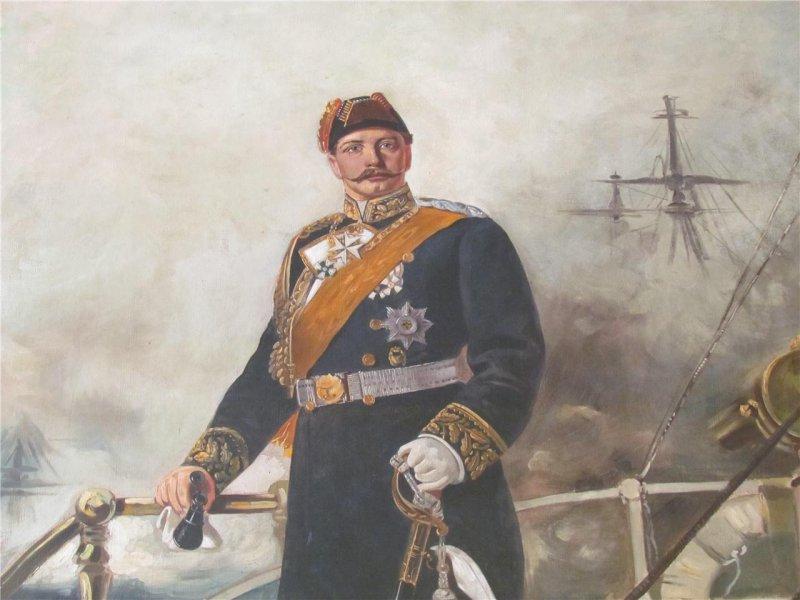 Painting of Kaiser Wilhelm II ( residency Empress Sissi