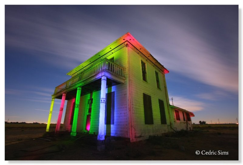 Light Painting at this Abandon House in Woodland, Ca.