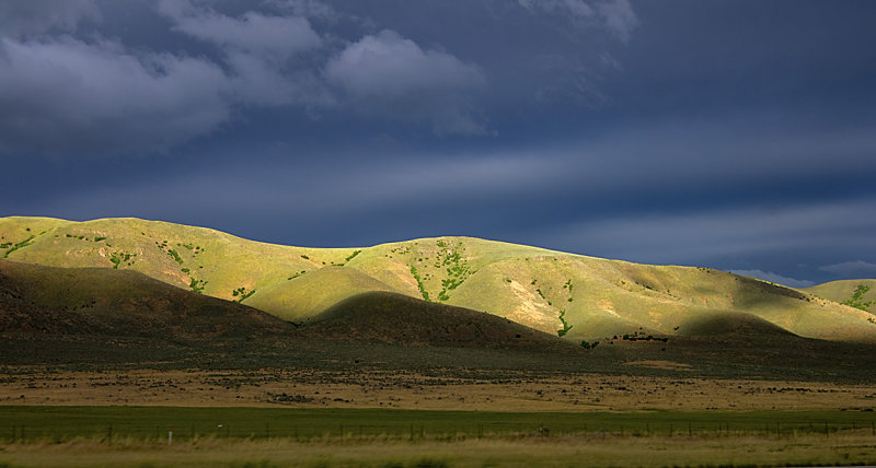 Between Snowville, Utah and Brigham City, Utah
