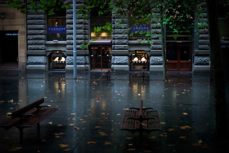 Martin Place in the Rain