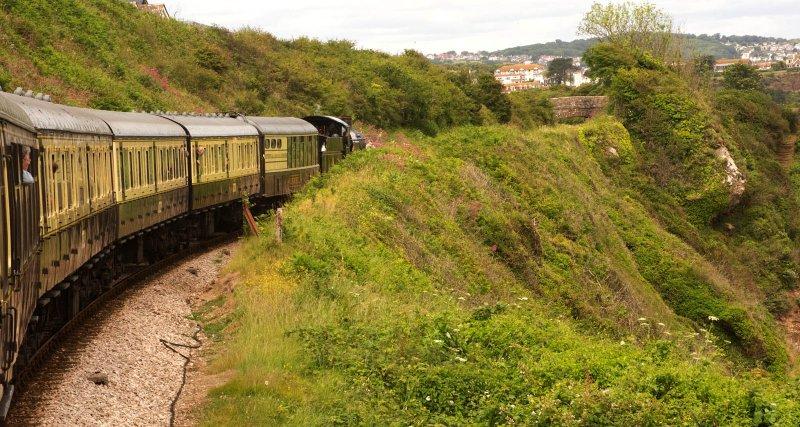 SteamTrain entering Goodrington