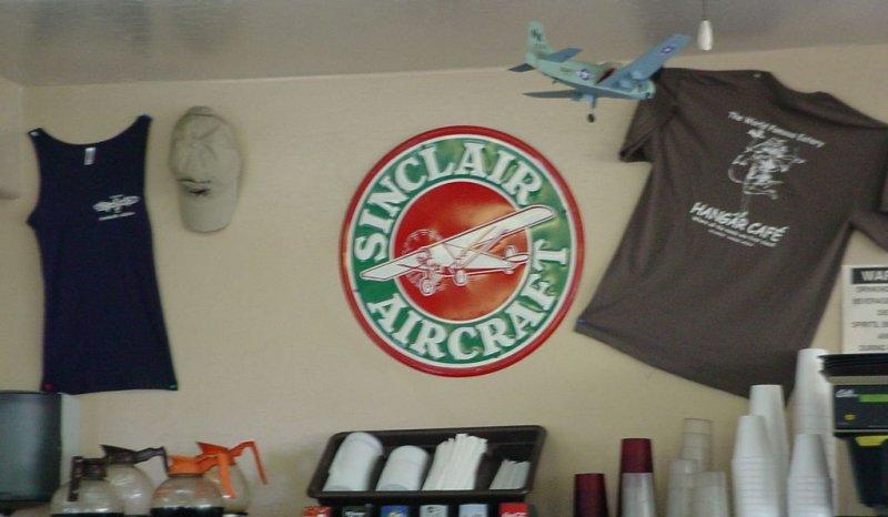 Sinclair Aircraft at Hanger Café