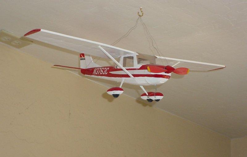 Flying in the sky in the Hanger Café