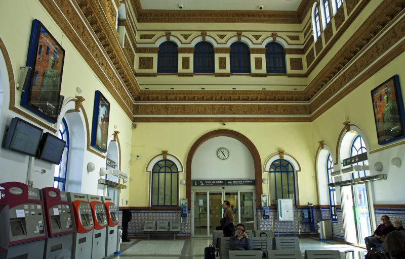 inside the railwaystation