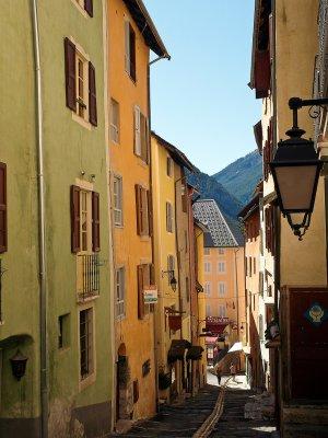 Briançon, a narrow street