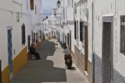 a street in Conil de la Frontera