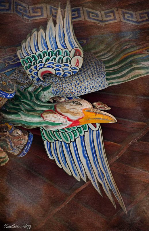 Typical Detail of the Chinese Design.Ethnic Cultural Park