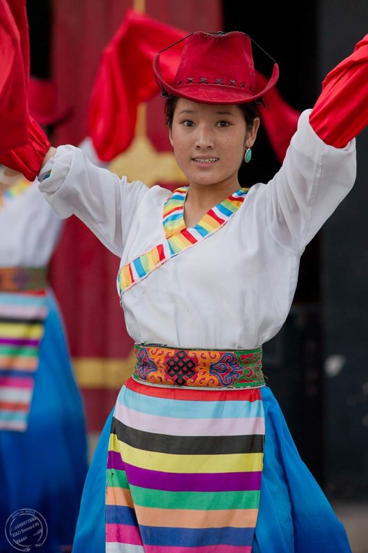 .Ethnic Cultural Park.Tibetan Dancer
