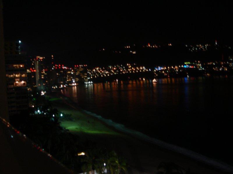 BAHIA DE ACAPULCO  NOCHE DESDE EL HOTEL