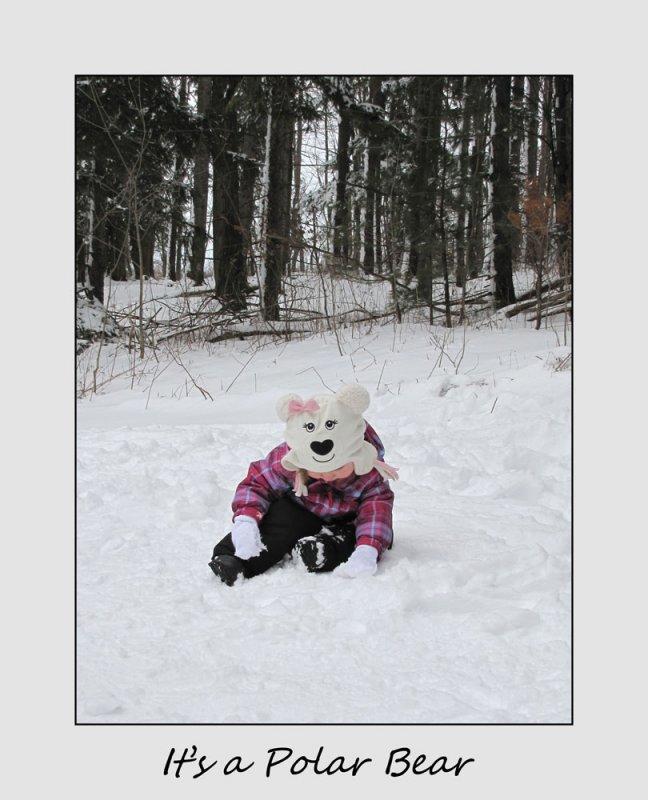 Its a polar bear....errrr baby.....errr polar bear