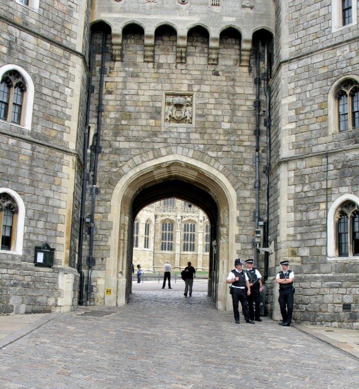 Castle door way.