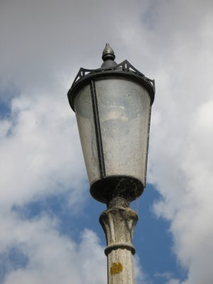 Lamp post on the lock.