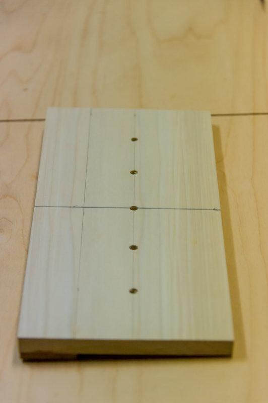 shelf pin hole drilling jig
