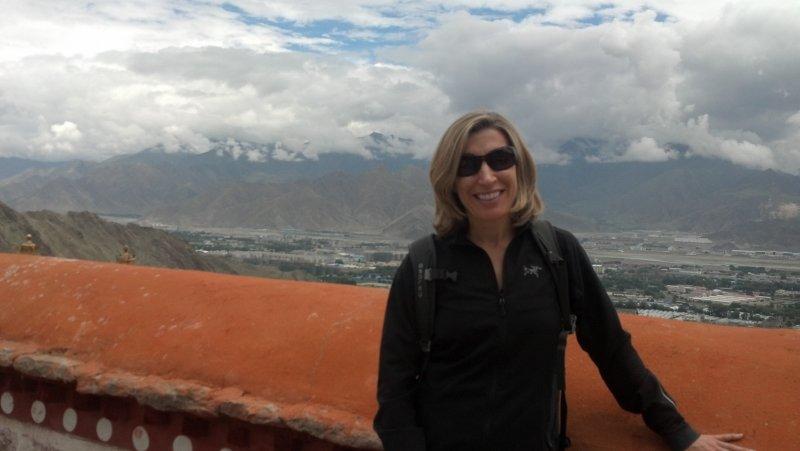 Lhasa from the Drepung Monastery on Gambo Utse Mtn