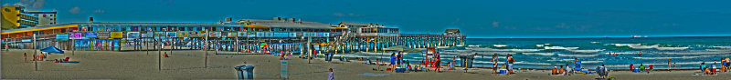 HDR Toned Panoramic of Cocoa Beach Pier
