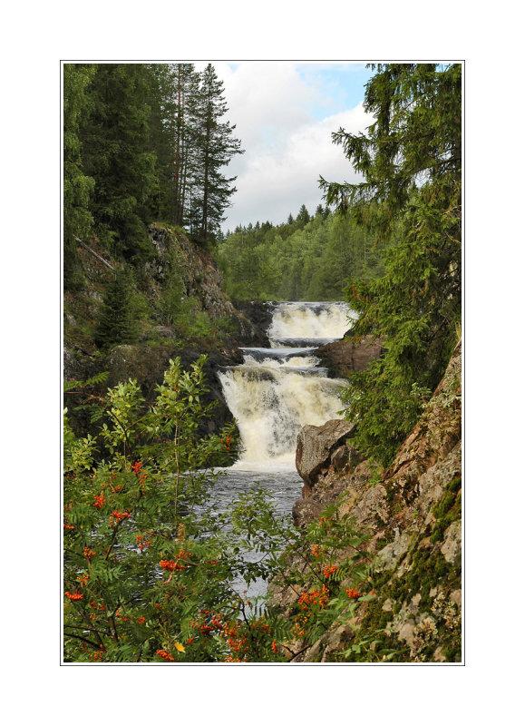 Kivach waterfall