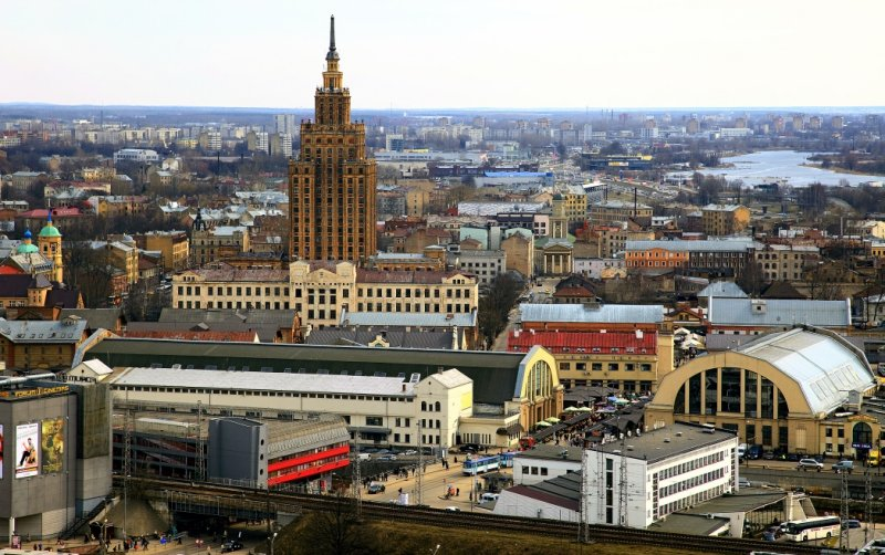 Latvian Academy of Sciences (local nickname Stalins Birthday Cake)