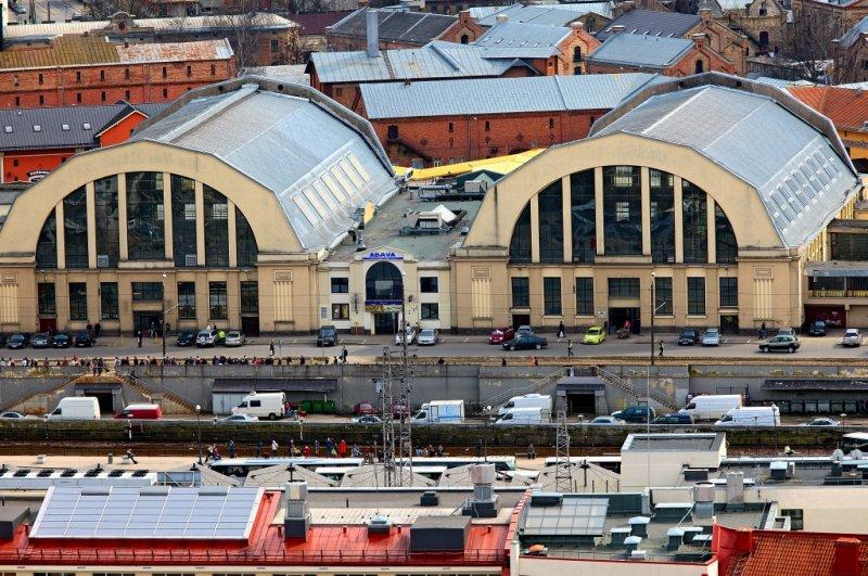 Rîgas Centrâltirgûs (Central Market; 2 of the 5 halls)