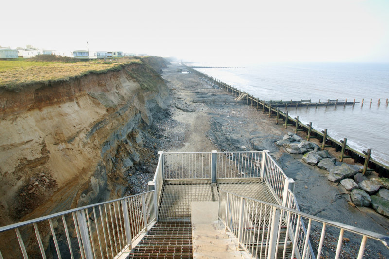 Happisburgh Beach (view from access steps)