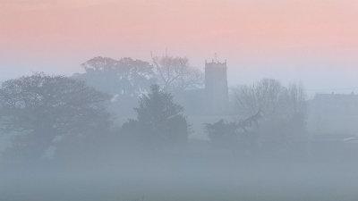 A Misty Sunset in Norfolk