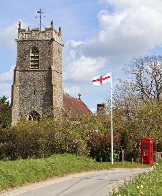 Plumstead Church showing St Georges Day Flag