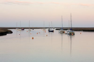 High tide at dusk, Wells-next-the-Sea.