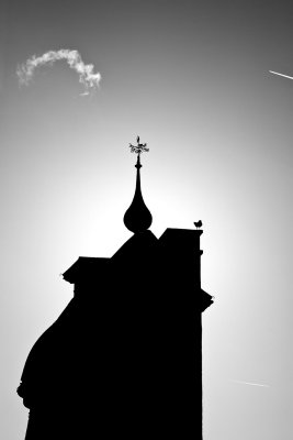 Silhouette with Cloud Mono