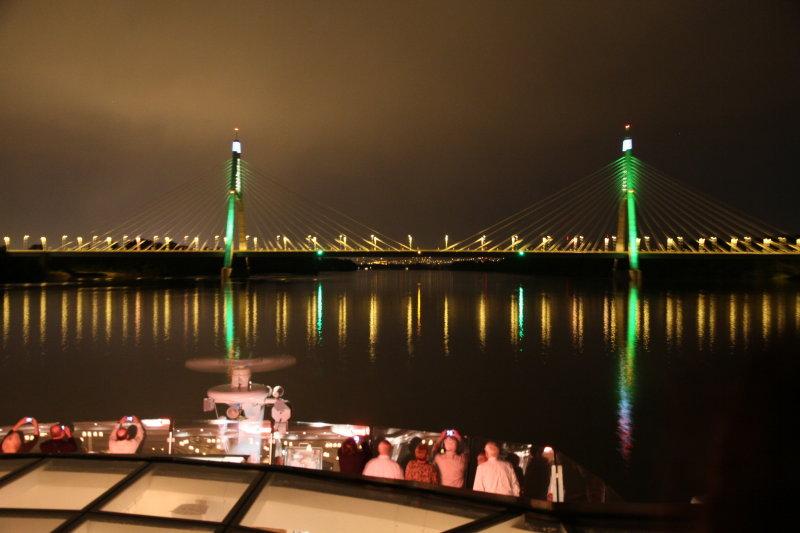 Arriving in Budapest under the Megyeri Bridge-2008