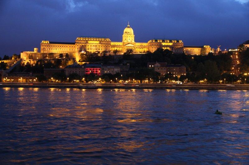 Buda Castle on our final night on the river